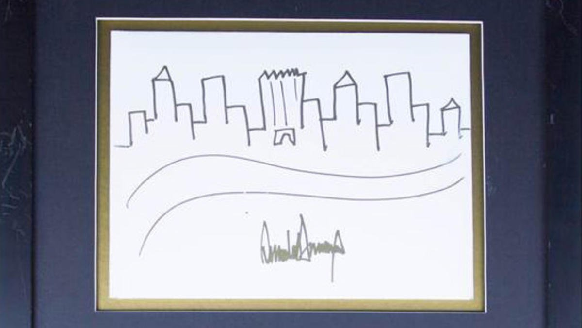 How much would you pay for a drawing of the NYC skyline by @realDonaldTrump? https://t.co/A0OKzvK3ar