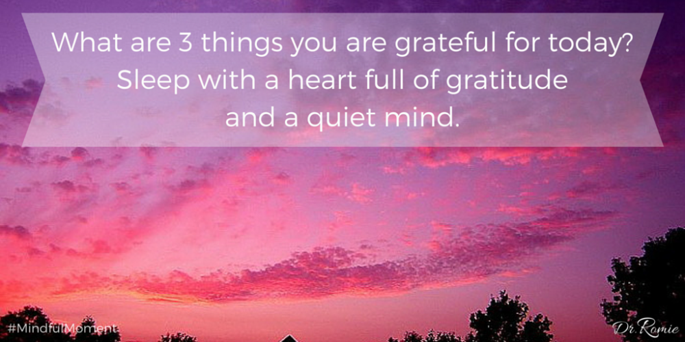 Tweet me 3 things you are grateful for tonight. Welcome sleep w/ clear mind &amp; heart full of #gratitude. #Mindfulness<br>http://pic.twitter.com/ZfXdV6h7z6