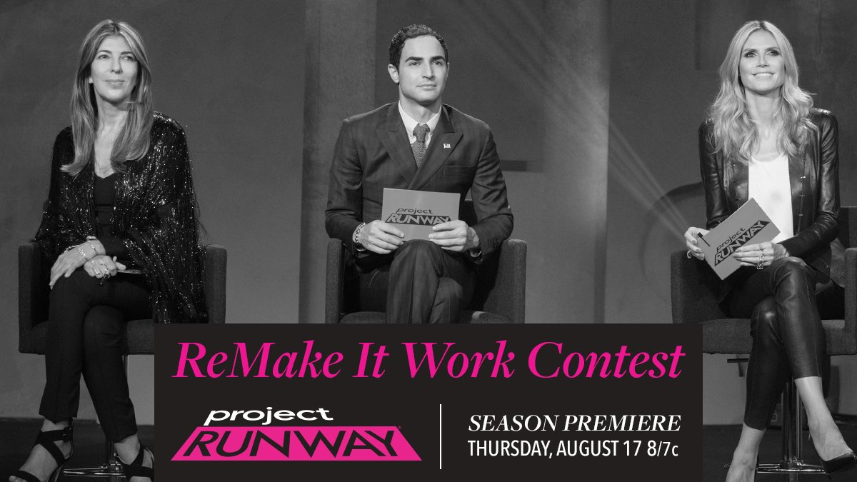 Designers! Share your @ProjectRunway inspired fan art w/ #ReMakeItWorkContest! We will pick our favorites! https://t.co/5llMU10xzx