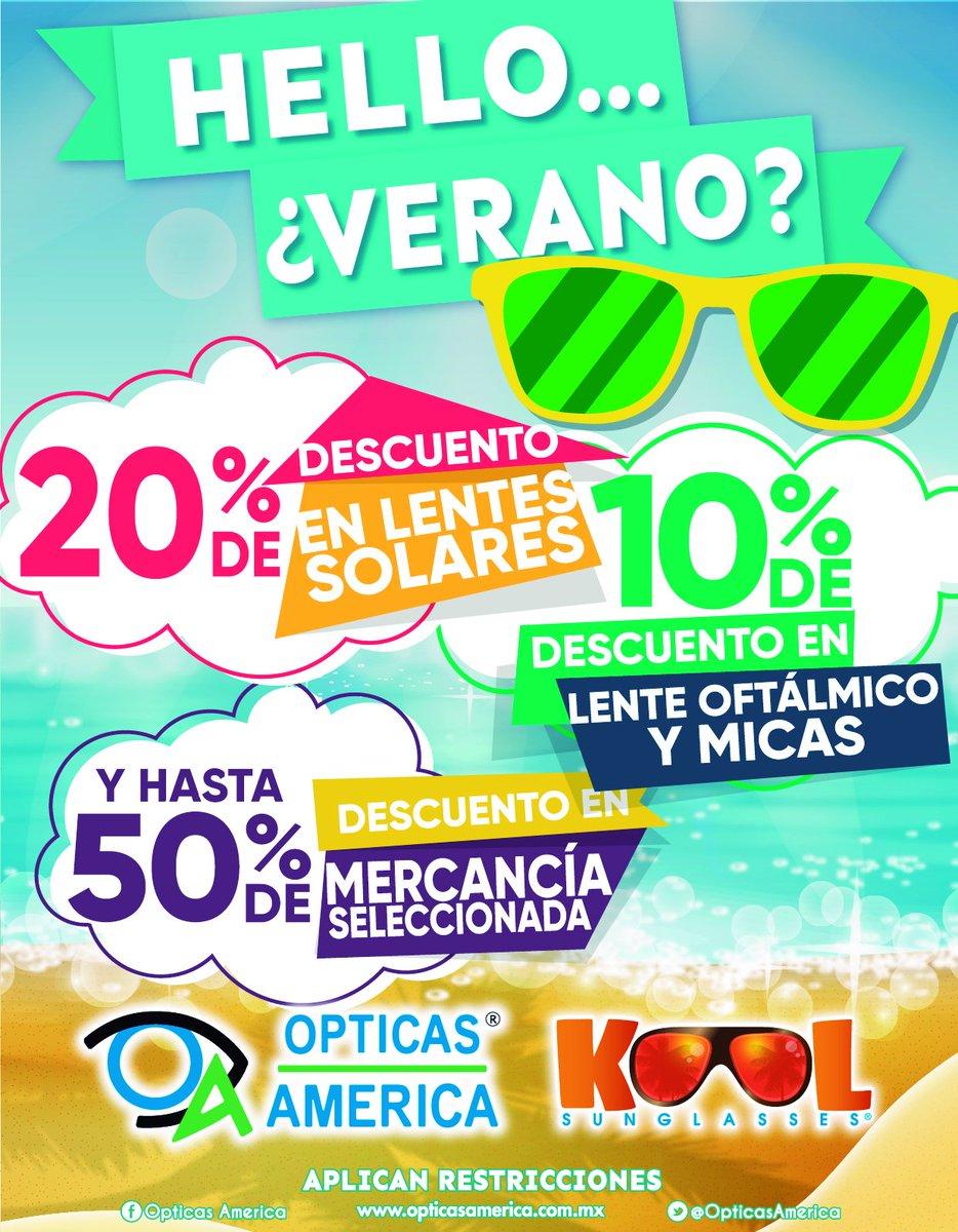 dc9c391484 Ven y conoce la nueva imagen de #ÓpticasAmérica y aprovecha la promoción  que tienen para el verano! pic.twitter.com/xkgArgm198
