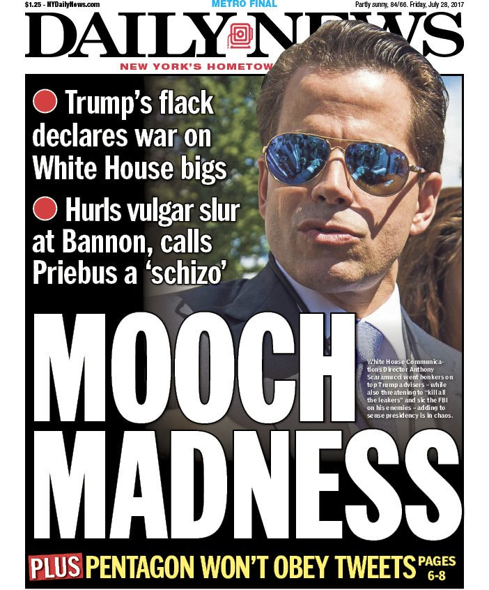 And NYC's other major daily tabloid is going with #MoochMadness.