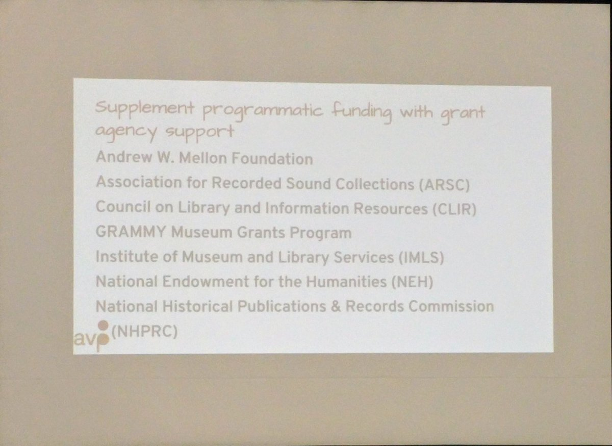 These are #funding agencies that will fund #digital #preservation for #audio-visual materials! #saa17<br>http://pic.twitter.com/pAGf0QW77J