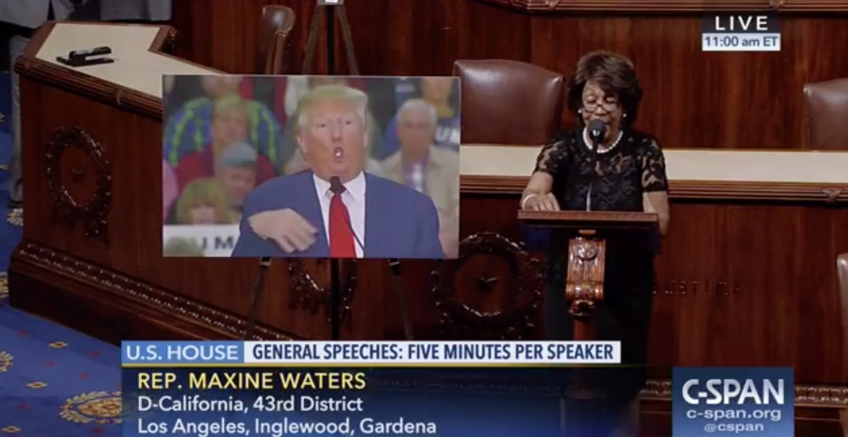 Waters brings photo of Trump mocking disabled reporter to House floor: https://t.co/e9DmWT62fq