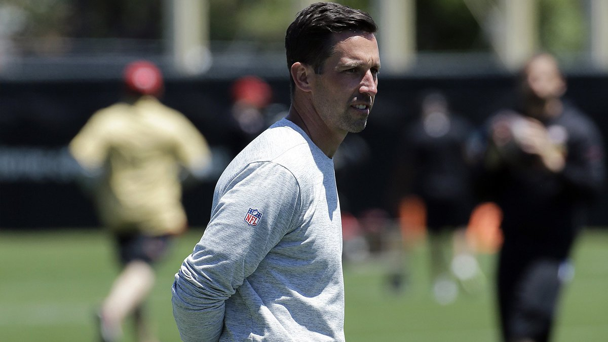 #49ers' head coach Kyle Shanahan takes pride in speed of offense (via @MaioccoCSN)  https://t.co/iMu5owstuX #NFLTrainingCamp#NFL