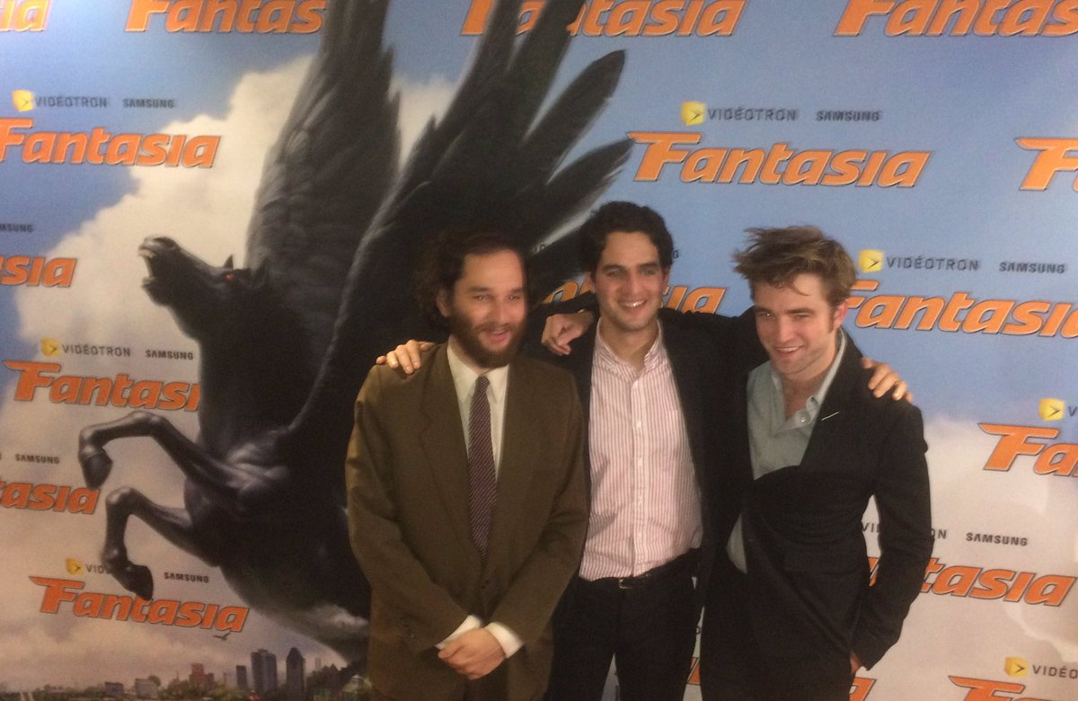 On the @FantasiaFest red carpet with Robert Pattinson. Watch our interview tomorrow