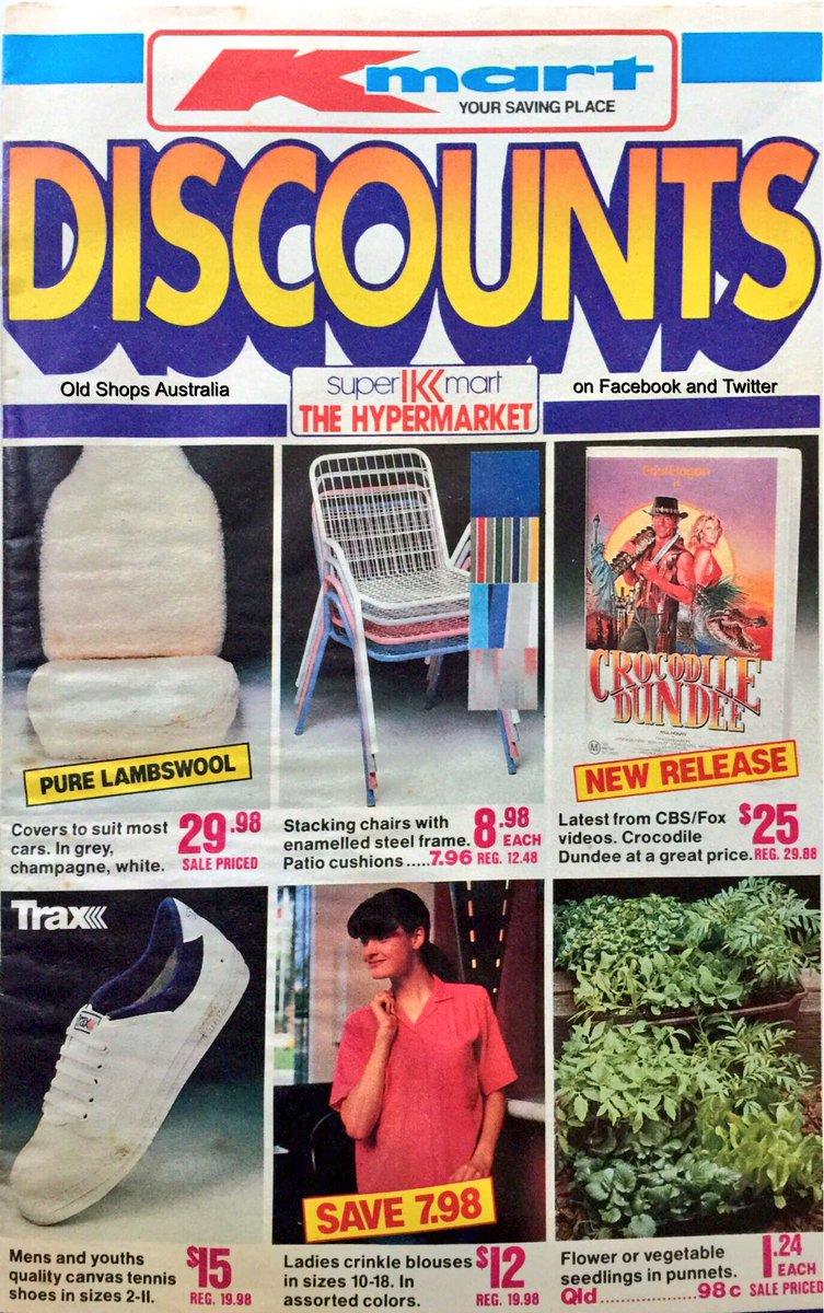 Old Shops Australia On Twitter Kmart Super 1988 Buy The Imitation Volleys Youll Have Money Leftover For Croc Dundee VHS