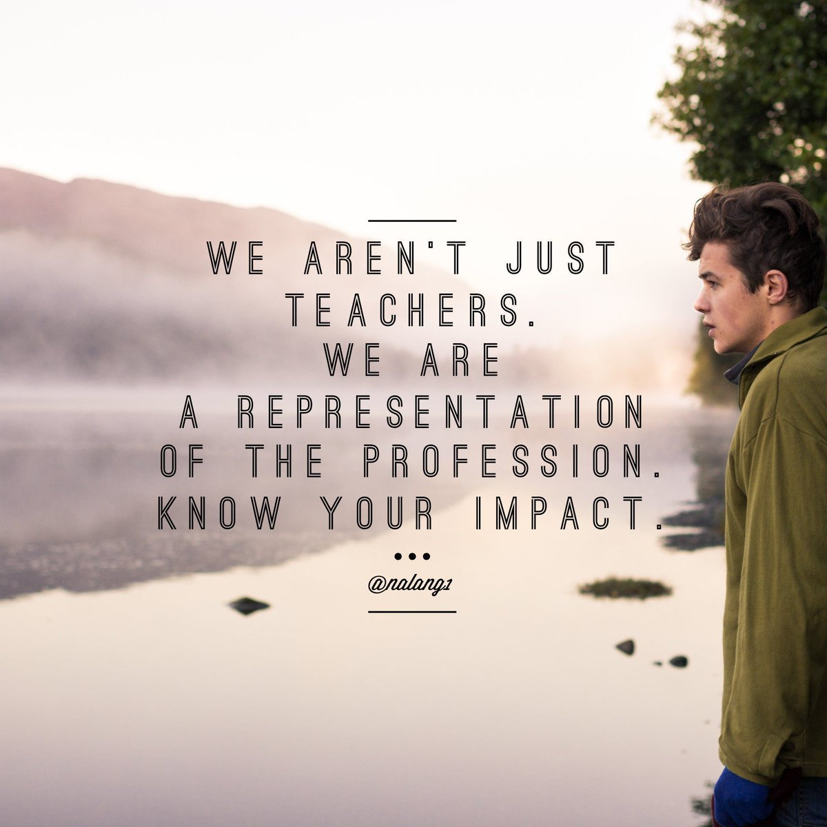 We aren&#39;t just teachers. We are a representation of learning, the profession, &amp; student preparedness. What&#39;s your impact? #education #edchat<br>http://pic.twitter.com/B2vXstVAfu