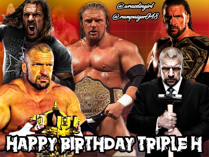 Happy Birthday Triple H!   Edit made by me