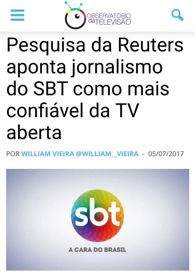 Pesquisa da Universidade de Oxford diz que o jornalismo do SBT é o mais confiável da TV aberta! Obrigada, Brasil!!!!