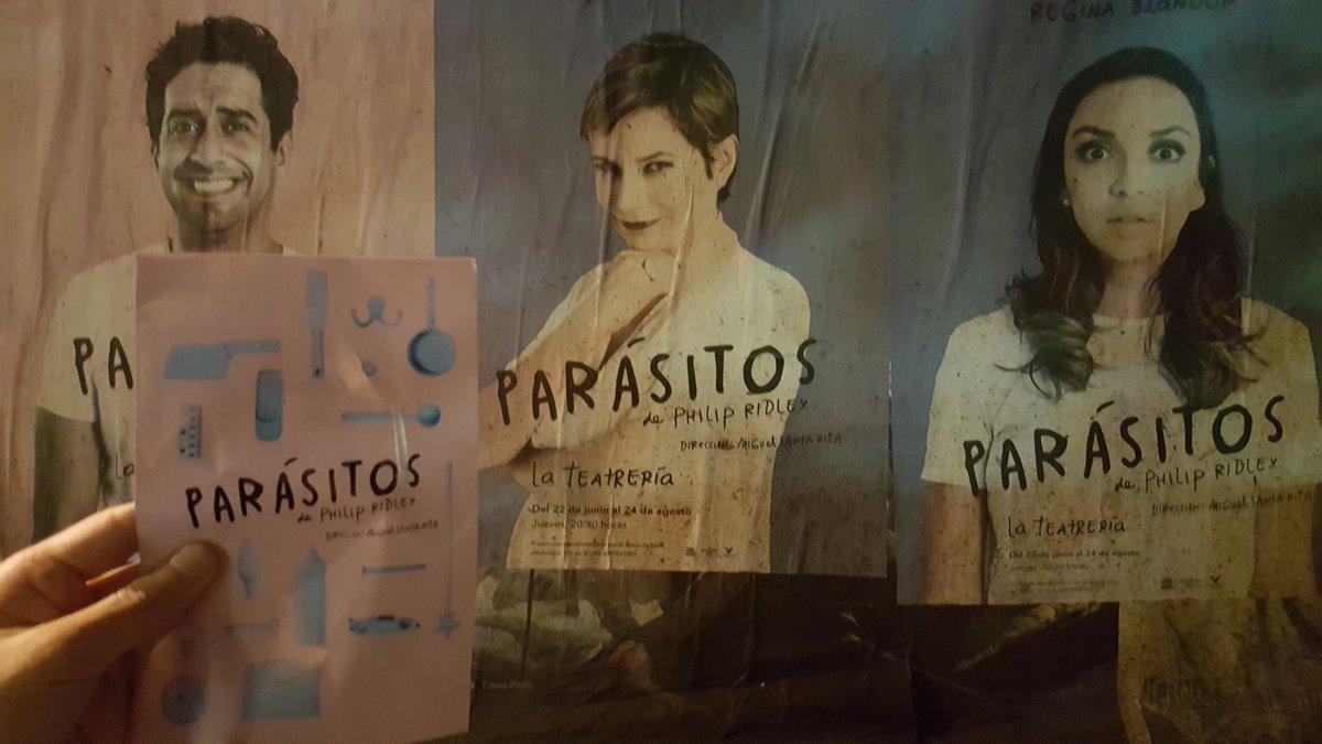 #Parásitos #Teatro 4 #ÚltimasFunciones @LaTeatreria @monicadionne @ReginaBlandon @dnieltovar #Bravopic.twitter.com/0ycBtcHsq6