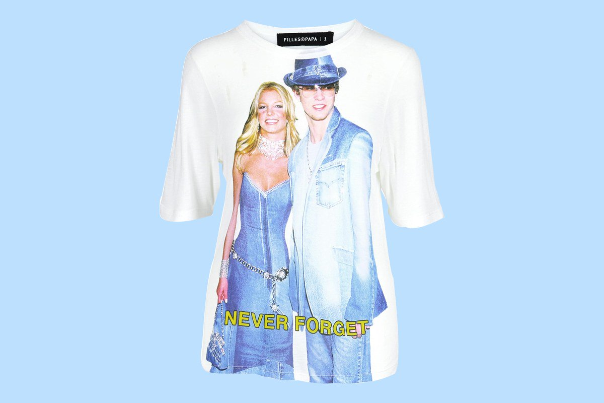 That Iconic Britney Spears and Justin Timberlake Denim Moment Is Now A Fashion T-Shirt https://t.co/7m9G950QQg https://t.co/gI0thEaVqH