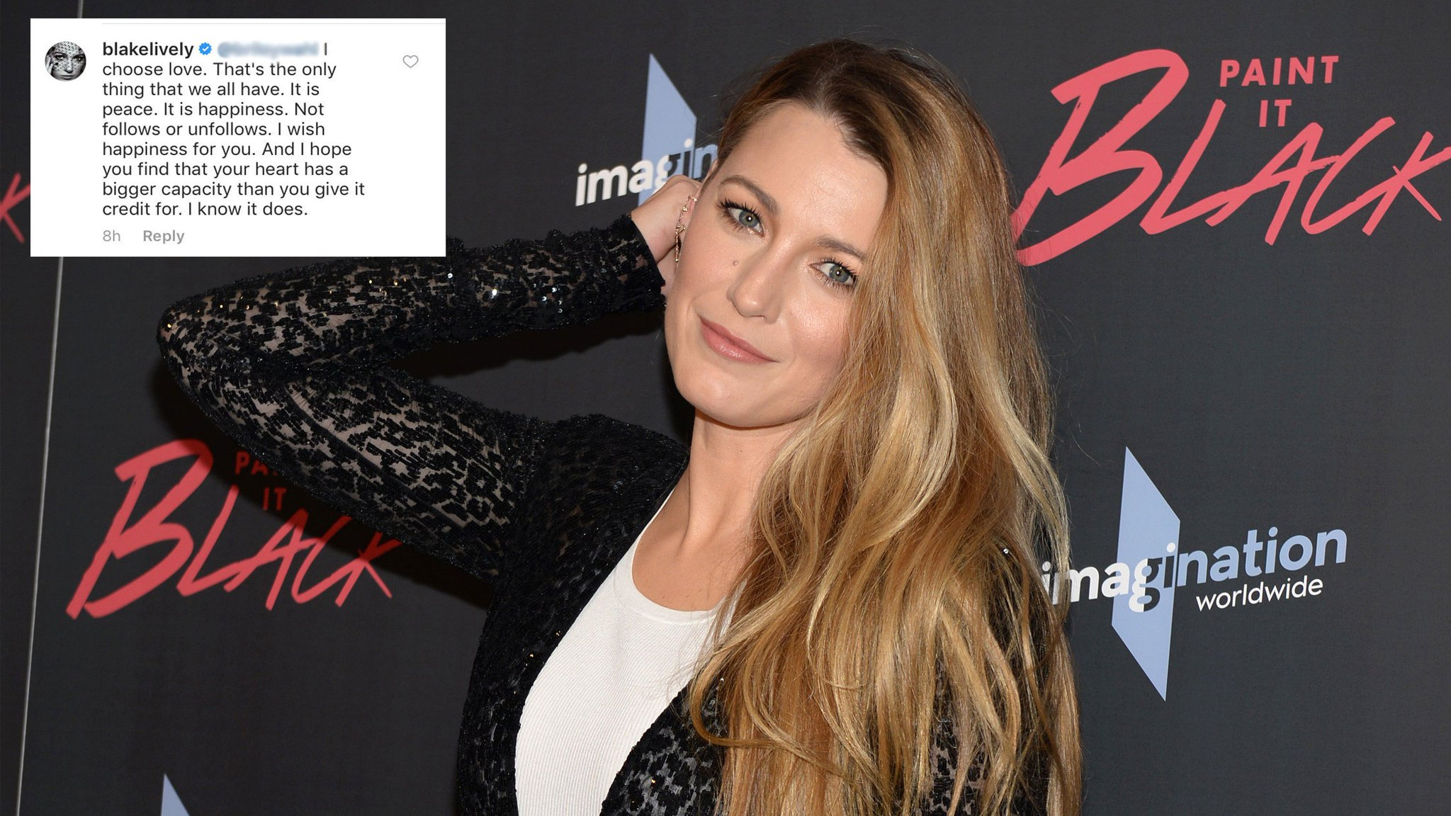 Blake Lively Only Has Love for Her Instagram Trolls https://t.co/VcWsAIBIhZ https://t.co/9GYSNcEJcI