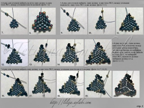 Схема плетения из бисера стрекозы для начинающих