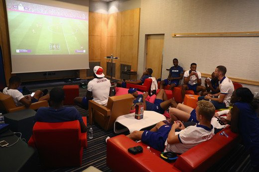 GAME TIME!  Holding camp = FIFA battles! #REPRESENT 🇬🇧