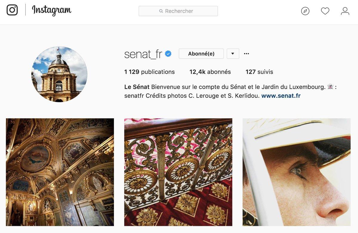 Le #Sénat est aussi sur Instagram 📸 Rejoignez-nous pour découvrir nos belles photos ✌️➡️ https://t.co/vL0W1zDBwU