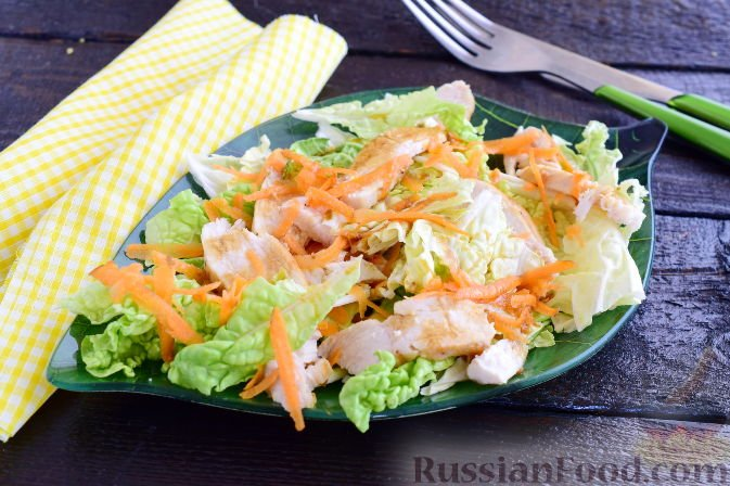 Салат из филе курицы рецепты простые
