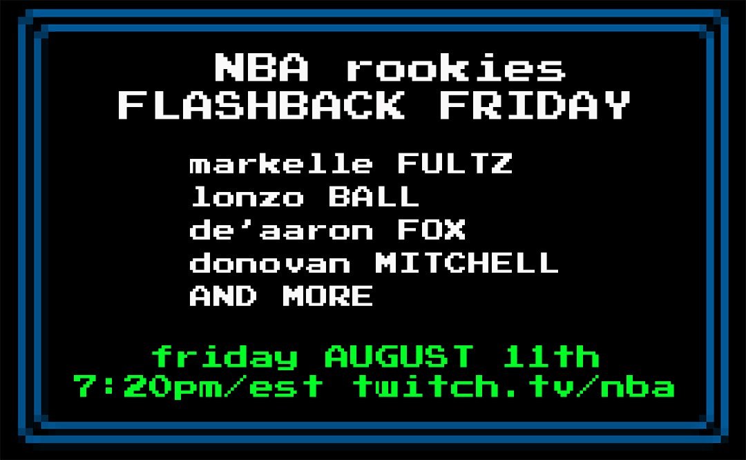 Watch @MarkelleF @ZO2_ @swipathefox @spidadmitchell & more rookies playing retro video games live on https://t.co/HbtDcrWR7x @ 7:20pm/est! https://t.co/s93xegQG7Q