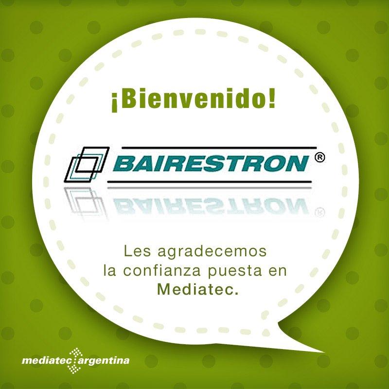 Bienvenido BAIRESTRON! gracias por confiar en Mediatec Argentina y sus servicios. :-) #construccion #electricidad #industria https://t.co/8MG2ErA4NU