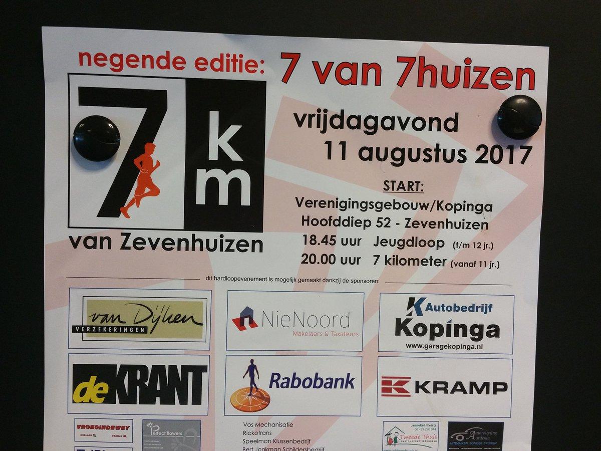 Kramp sponsort de loop van Zevenhuizen, als dat maar goed gaat!