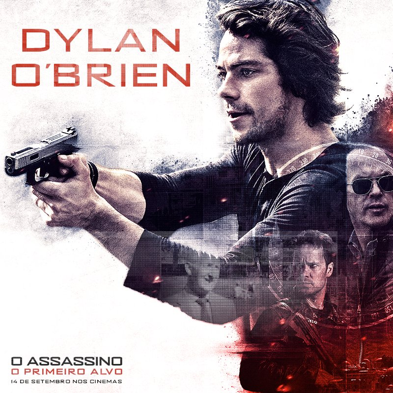 O astro Dylan O'Brien, de #MazeRunner e #TeenWolf, chega quebrando tudo no novo filme '#OAssassino: O Primeiro Alvo'