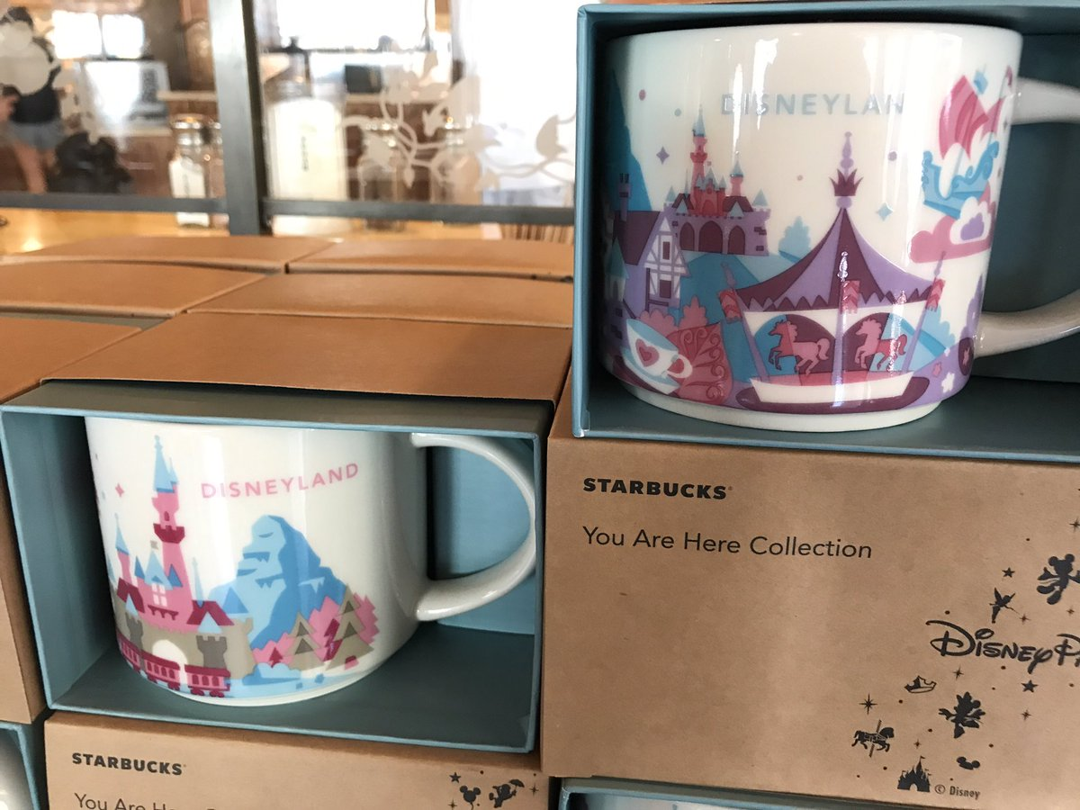 Spotted the new @Starbucks You Are Here mug @DisneylandToday This one focuses on Fantasyland, has purple interior. https://t.co/pVkVQjPMFG