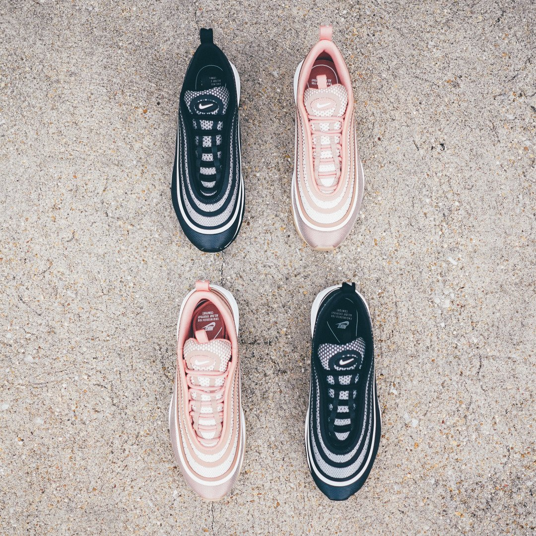 Nike Air Max 97 Ultra '17 Trainer Silver Red White