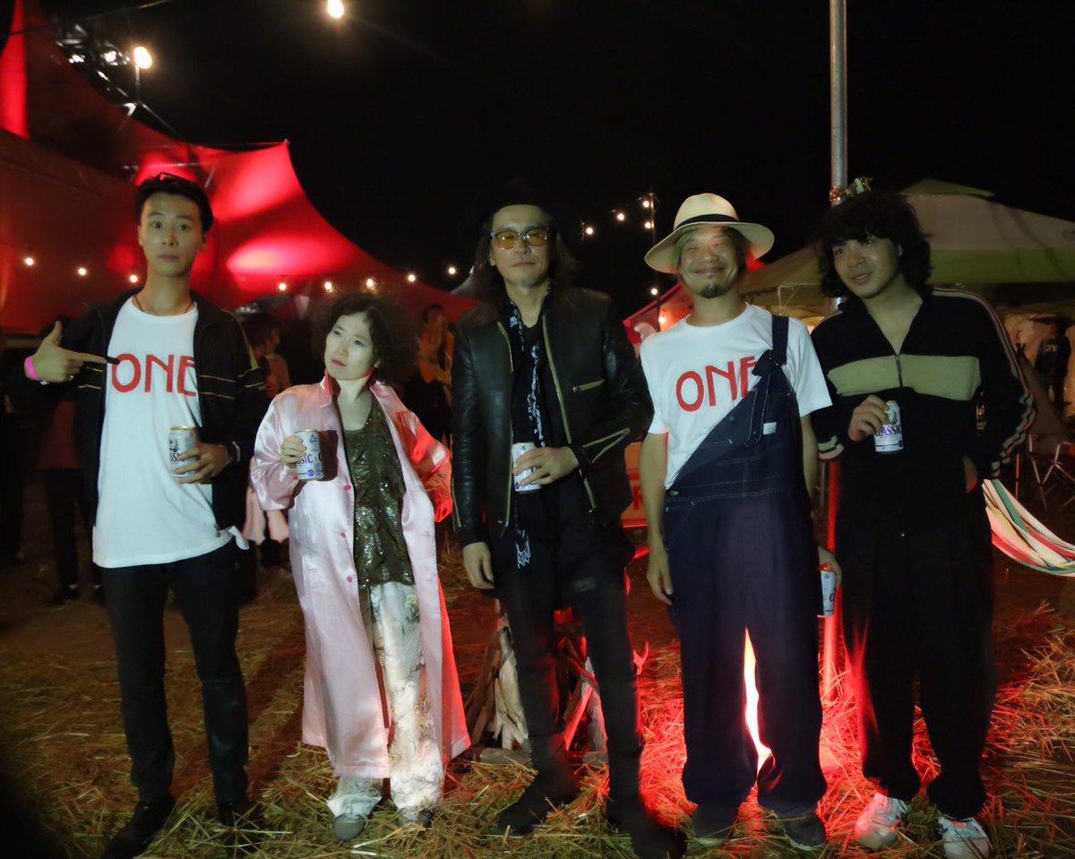 今年のスカパラのライジング、真夜中のセッションはこの五人に参加して貰いました。五人ともやばかったね。…
