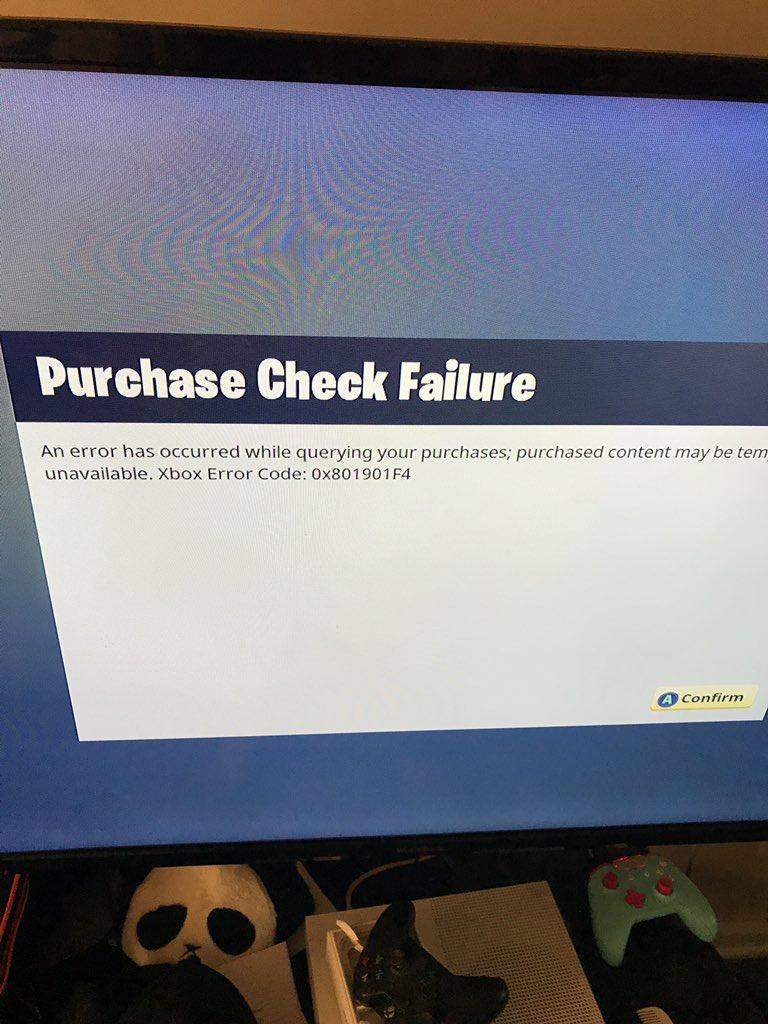 Xbox error code 0x801901f4