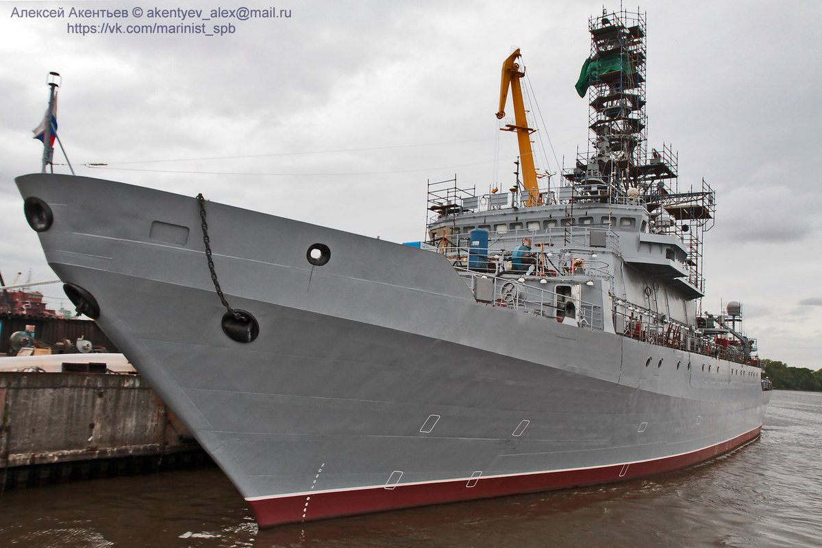 Fresh images of 2nd Pr.18280 #Russia|n #intelligence collection ship Ivan Khurs @ Severnaya Verf, Russia. 2017©Alex Akentyev <br>http://pic.twitter.com/ORuP9MoY5w