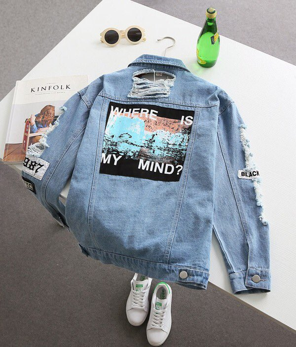 Where is my mind? Denim Jacket 💘  Shop:...