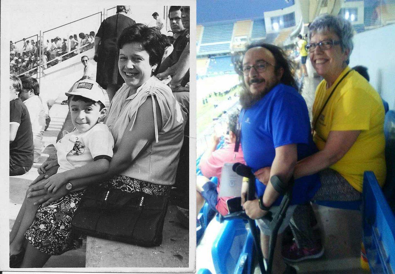 Unos 40 años después... mi madre y yo en el mismo sitio. En el Ramón de Carranza https://t.co/T8oMSGOzEm