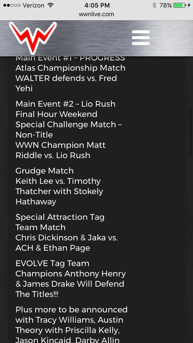 Tonight&#39;s card is fully stacked hyped for @WWNEVOLVE 90 #Joppa #MCW <br>http://pic.twitter.com/I7i2q9WSo9