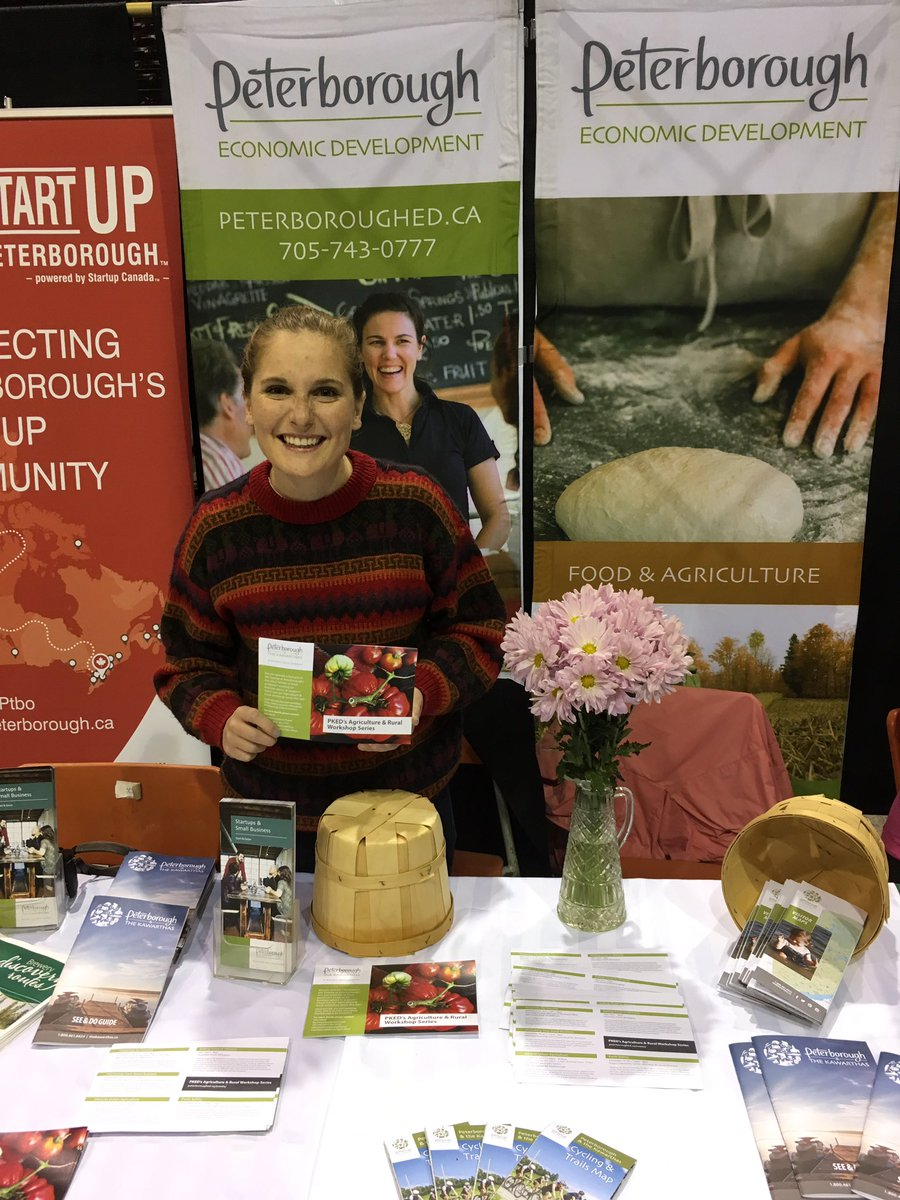 Come visit the #BAC and our Ag and Rural Lead @PtboJuliaW in the Innovation Zone at the @ptboex and learn about our workshop series!<br>http://pic.twitter.com/NQdfHkGEiT