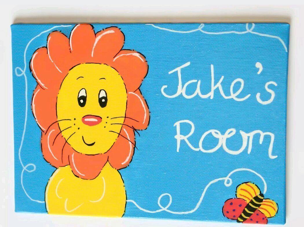 Jungle lion childrens bedroom door name sign #handmade #etsymntt #epiconetsy #personalised #gift  https:// buff.ly/2vWJARi  &nbsp;  <br>http://pic.twitter.com/P8dAcaKzAc