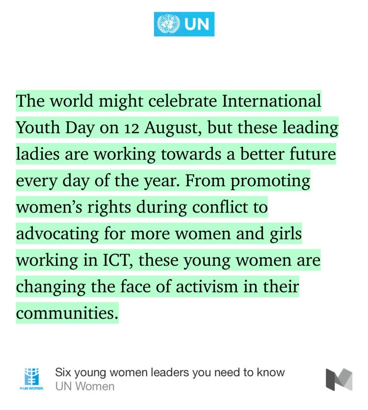 Saturday is #YouthDay, but these young women leaders work for a better  every day. 6 women you need to know:  http:// bit.ly/2uw55YR  &nbsp;  <br>http://pic.twitter.com/5UCcIknICm