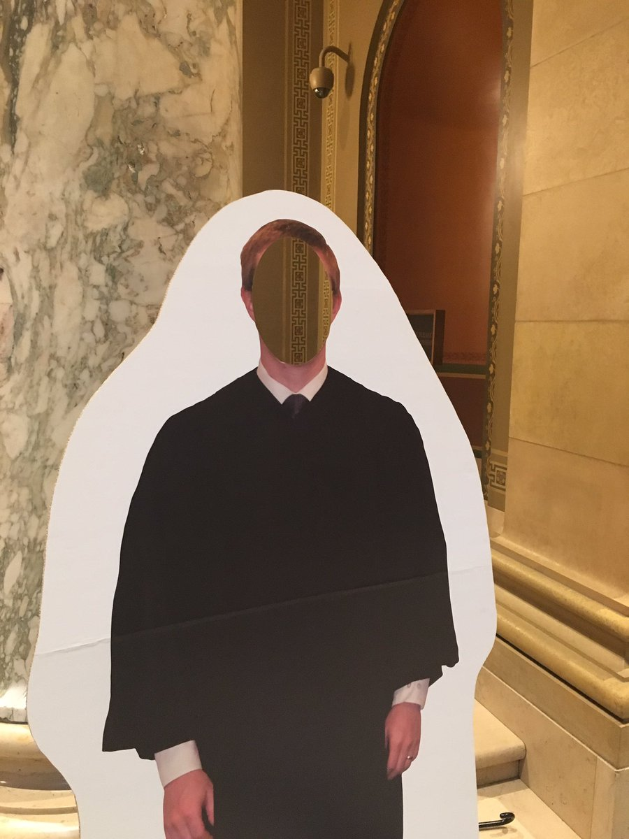 MN Supreme Court justices should never be outside of their robes. Freak me out. But you can try out the robes for photos if you come by.