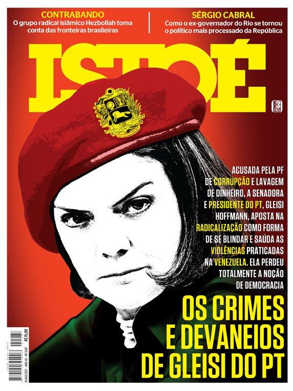 Na capa desta semana, os devaneios da senadora Gleisi Hoffmann. Leia em https://t.co/ZQnp0CH9MW