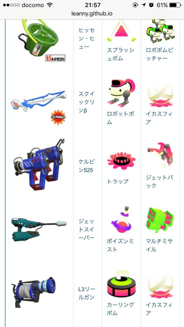 一覧 スプラ トゥーン 武器