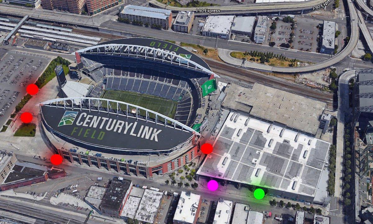 Century Link Field Map on