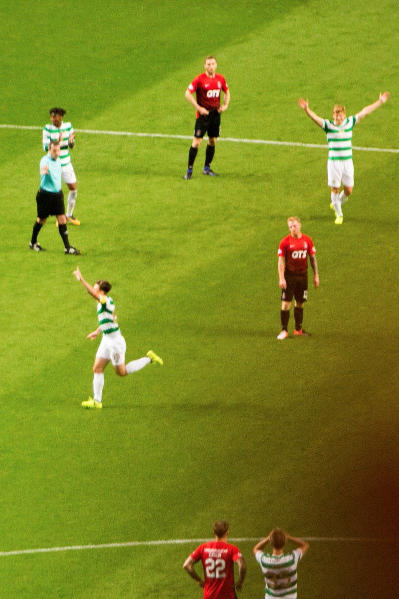 just spotted Ajer's reaction to Tierney's goal (bottom right)