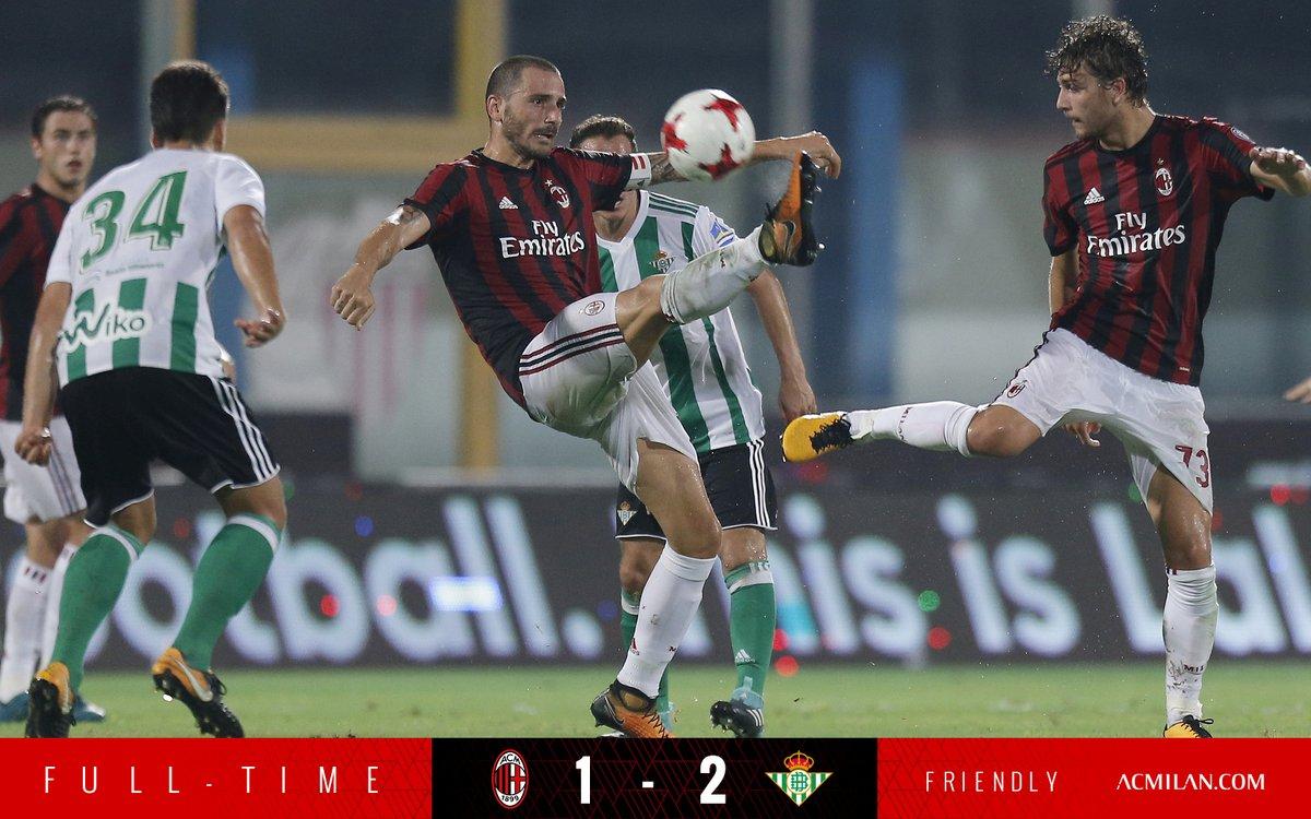 Milan-Betis finisce 1-2 a Catania, in evidenzia la VAR | Amichevole Calcio Estate 2017