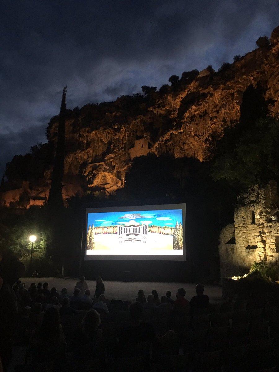 "Richard E. Grant on Twitter: ""Open air cinema in Cotignac"