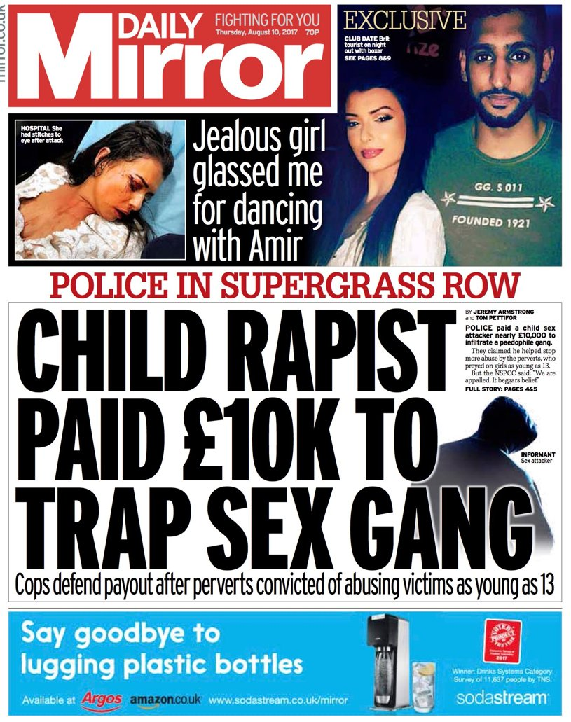 🇬🇧 Child rapist paid £10K to trap sex gang (Une Daily Mirror, London)