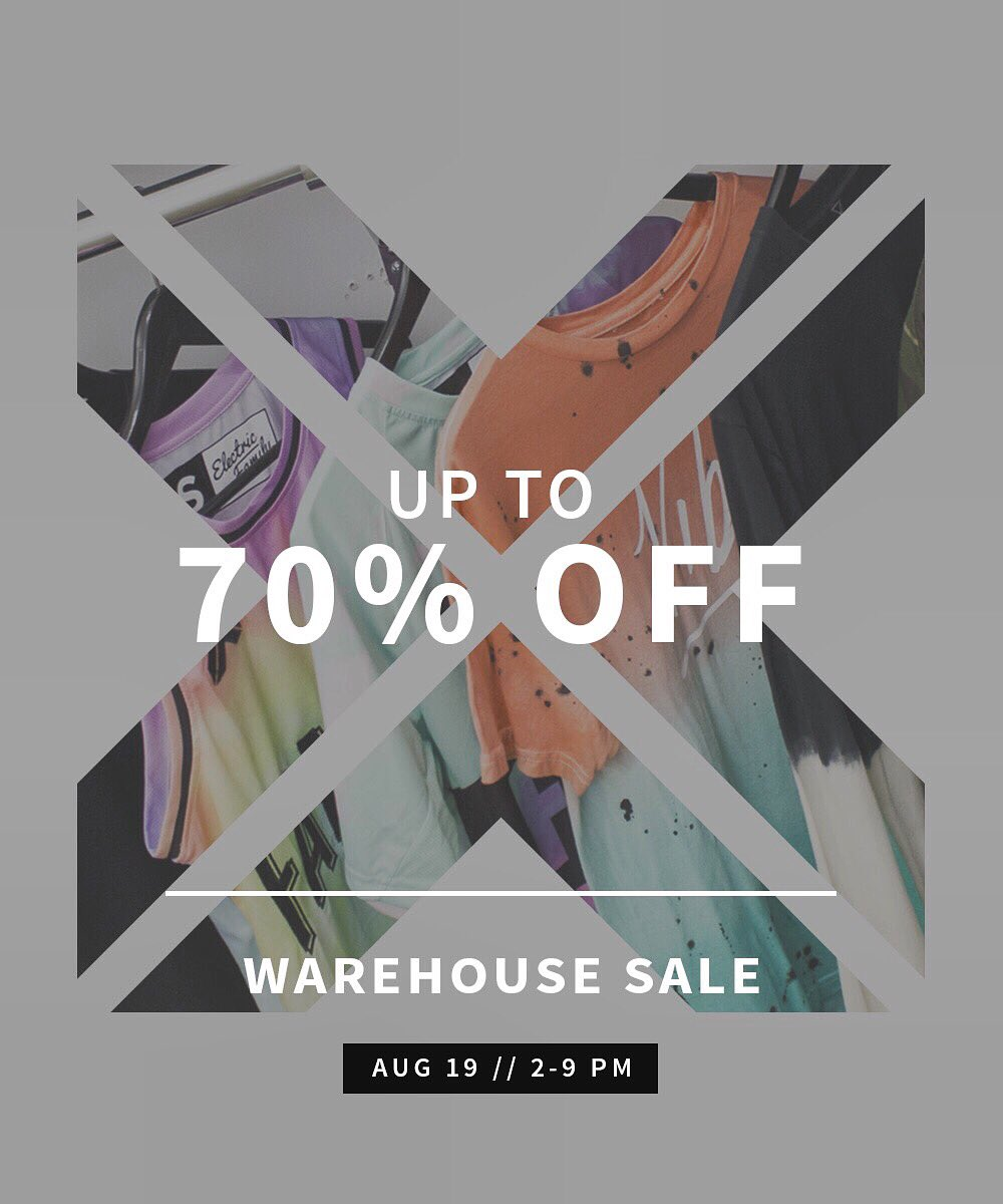 Electric Family On Twitter 1st Ever Warehouse Sale Where