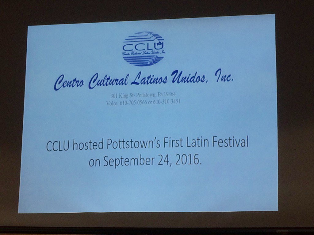 Giovanna Stuyer (sp?) now presenting on plans for Latin Festival planned for Sept. 24. https://t.co/J384O0Y0QV