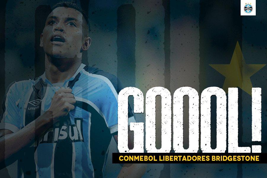 ANOTA MAIS ESSE AÍ, SEU JESSÉ! Pedro Rocha marca mais um e vira o jogo Grêmio 2x1 Godoy Cru #Libertadores2017 #SoyLocoPorTri #QueremosACopaz