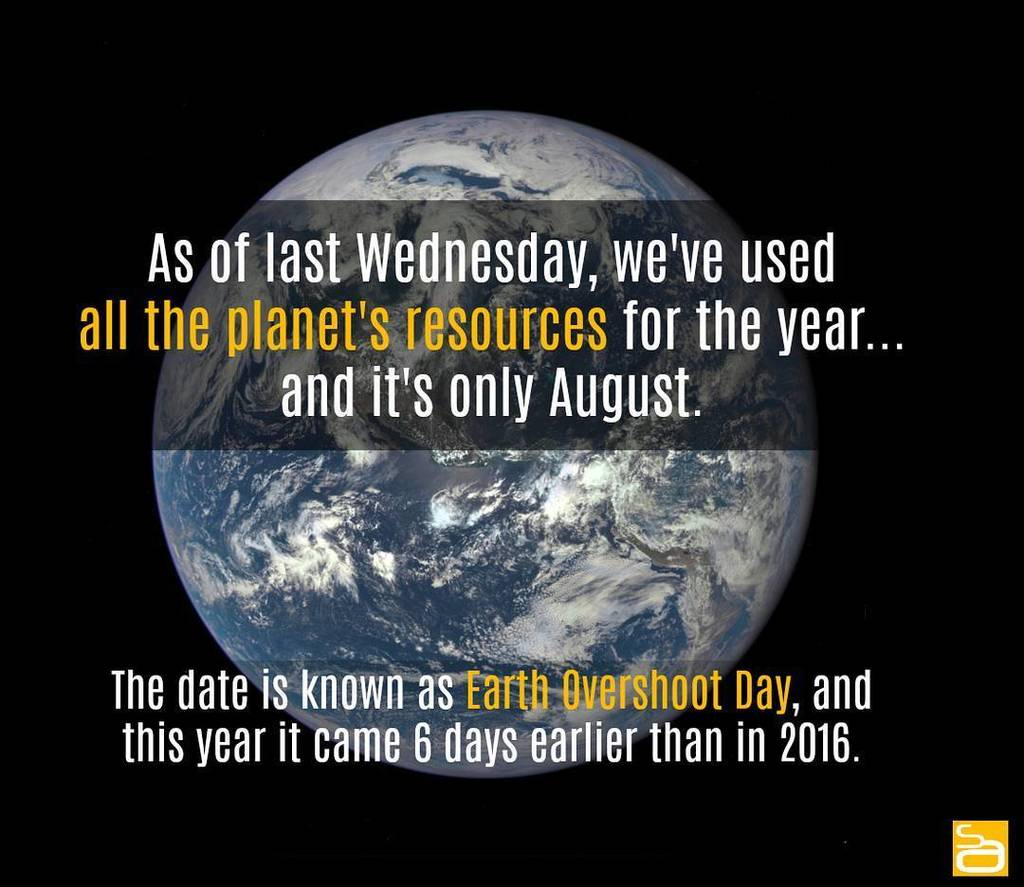 We&#39;ll just leave this here... : ScienceAlert #earth #overshootday #sustainability #resources #environment #natu…  http:// ift.tt/2uqWirb  &nbsp;  <br>http://pic.twitter.com/4fBSrb3Koz