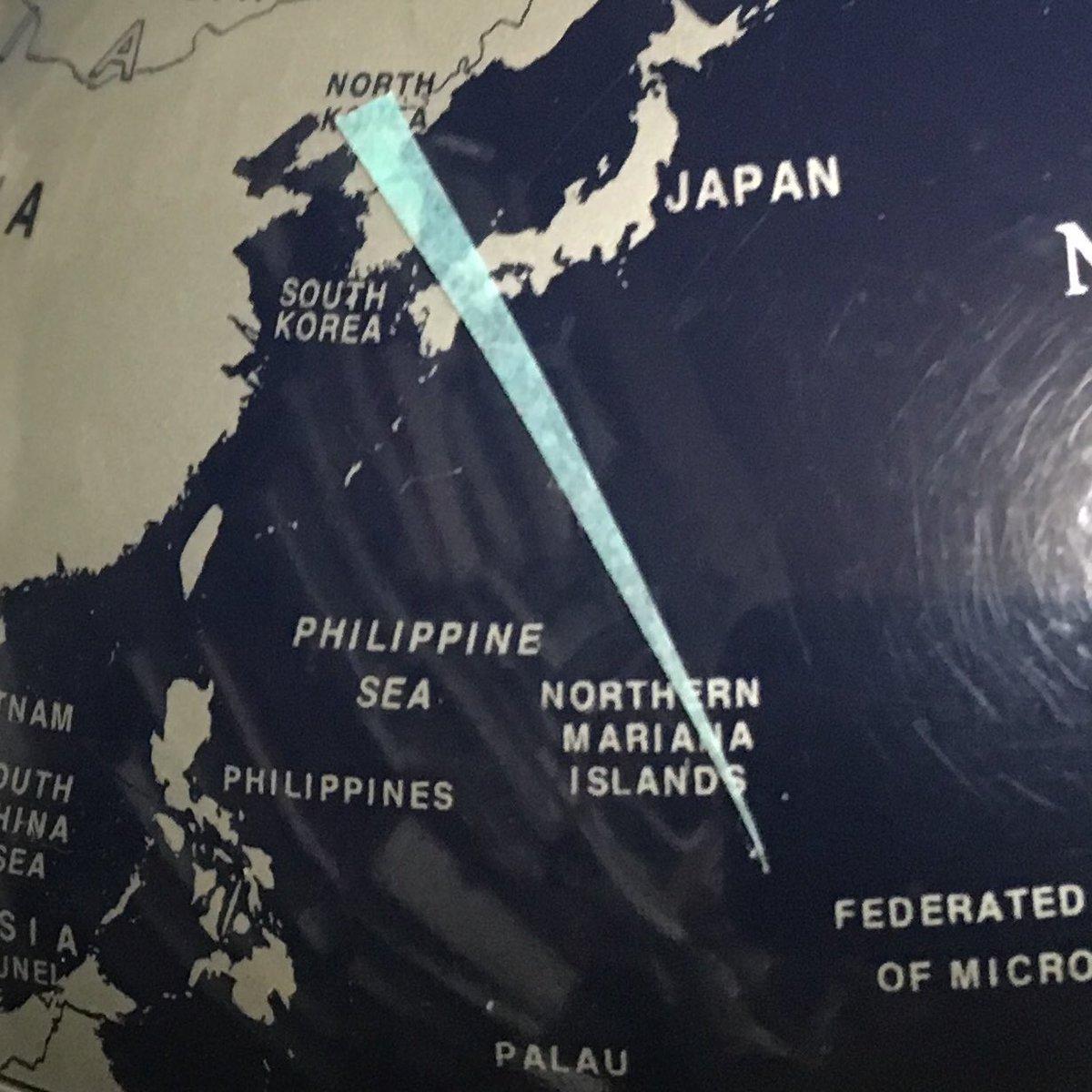 北朝鮮がどこから射つにしても、日本にとって迷惑な事は地球儀を見れば一目でわかる。 https://t.co/4OPGXKdF2c