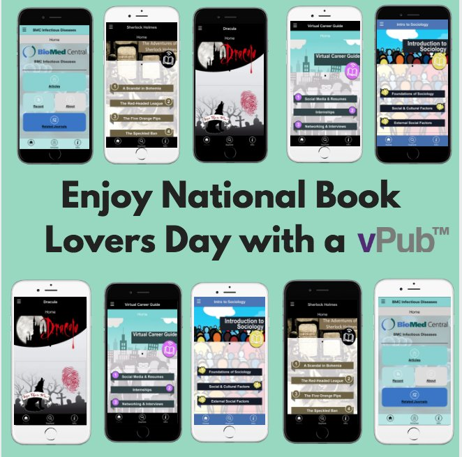 We celebrated National Book Lovers Day with our vPub™ collection! #virtual #publications <br>http://pic.twitter.com/VgiyuPdDKD