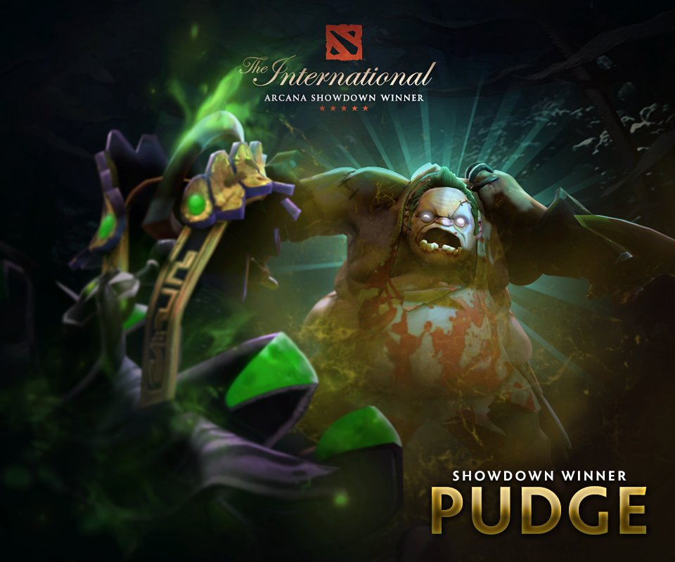 Pudge is the winner of the Arcana Showdown 2017. #TI7